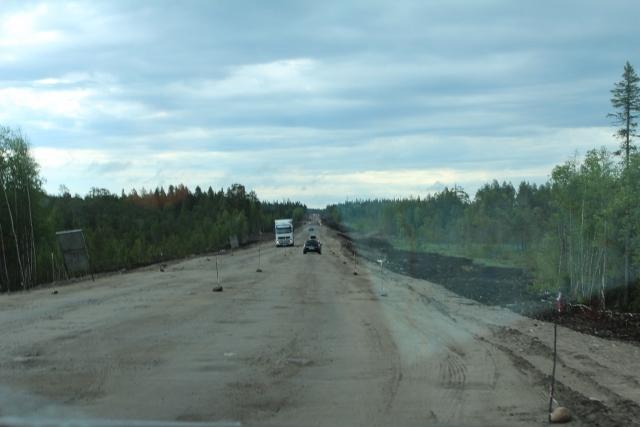"""Pisten endlos durch die Wälder - als Baustelle oder als """"normale"""" Straße - mehr als diese Trasse ist nicht"""